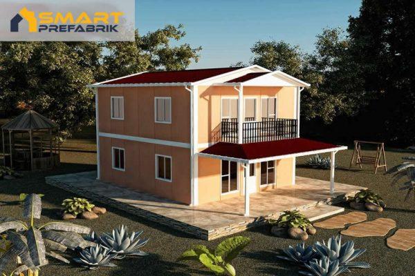 Model 33 Eko Dubleks 122 m2 Prefabrik Ev